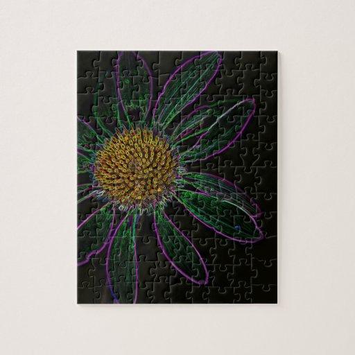 Black Light Neon Flower Power Puzzles