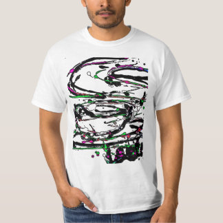 Black Light / Neon Splash Abstract Coffee Cup T-Shirt