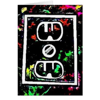 "Black Light / Neon Splash ""Outlet"" by Levi G. Card"