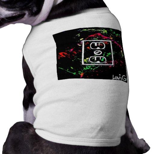 "Black Light / Neon Splash ""Outlet"" by Levi G. Dog Tee Shirt"