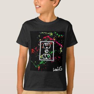 "Black Light / Neon Splash ""Outlet"" by Levi G. T-Shirt"