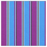 [ Thumbnail: Black, Light Sky Blue, Purple, Blue & Mint Cream Fabric ]