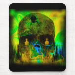 Black Lighted Gothic Skull Mouse Pad