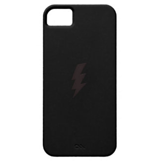 black lightning bolt iphone case