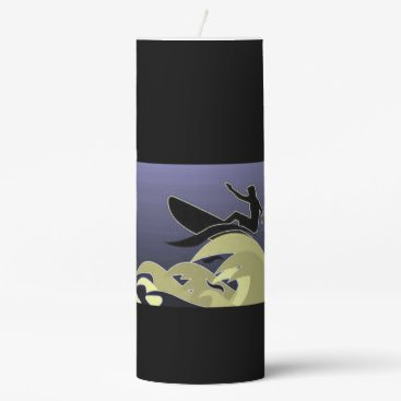 Beach Themed Black Lilac Surfer  Candle
