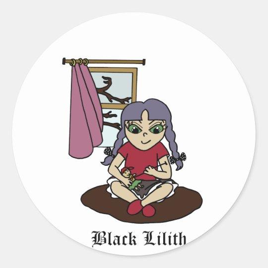 Black Lilith Classic Round Sticker