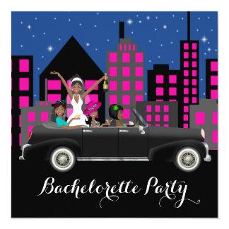 Black Limo Bachelorette Party 5.25x5.25 Square Paper Invitation Card