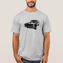 Black line art '65 GTO t-shirt