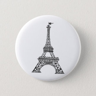 Black Line Eiffel Tower Button