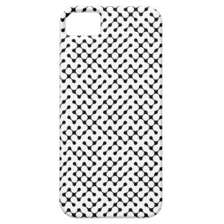 Black Lined Dots Patterned iPhone4 Case