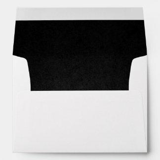 Black Lined Envelope