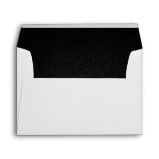Black Lined Envelope
