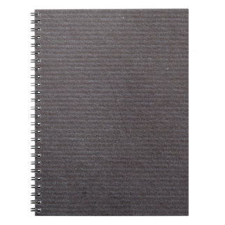Black Lined Paper Background Texture Design Spiral Notebook