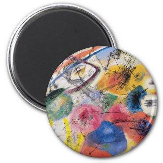 Black Lines 2 Inch Round Magnet