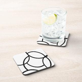 Black Lines Beverage Coaster