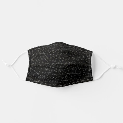 Black Lines Modern Pattern Abstract Geometric Cool Adult Cloth Face Mask