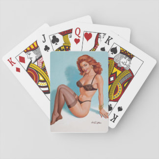 Black Lingerie, 1993 Pin Up Art Playing Cards