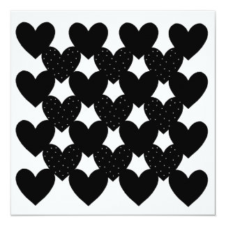Black Linked Hearts Card
