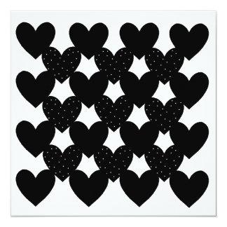 Black Linked Hearts Card