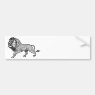 Black Lion Bumper Sticker