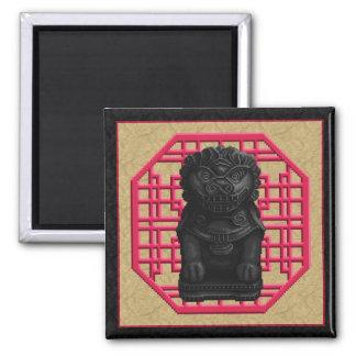 Black Lion Dog Refrigerator Magnets