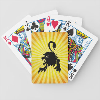 Black Lion; Leo Bicycle Playing Cards