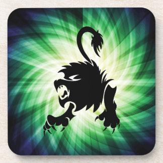 Black Lion; Leo; cool Beverage Coaster