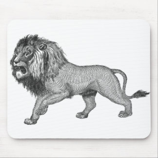 Black Lion Mouse Pad