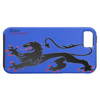 Black Lion passant Case with name