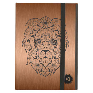 Black Lion Sugar Skull And Metallic Copper iPad Air Cases