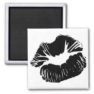 Black Lips Fridge Magnets