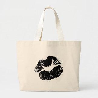 Black Lips Large Tote Bag