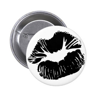 Black Lips Pinback Buttons