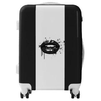 Black lips stylish fashion kiss makeup artist luggage