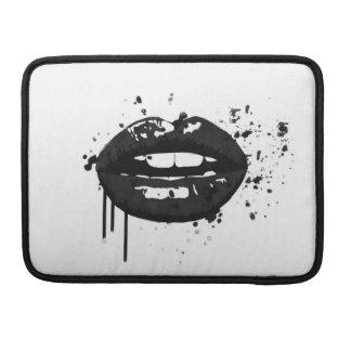 Black lips stylish fashion kiss makeup artist sleeve for MacBooks