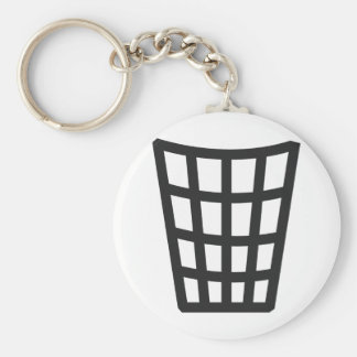 black litter bin icon keychain