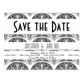 Black&littleWhite: Art Deco Fans | SAVE the DATE Postcard