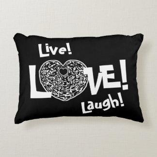BLACK Live! Laugh! LOVE! Sweetie❤ Accent Pillow