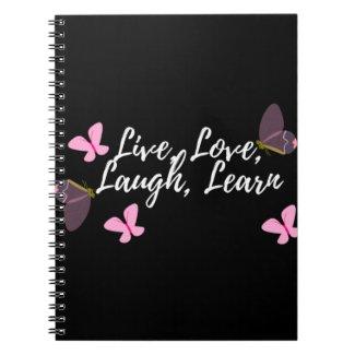 black live love notebook