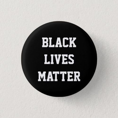 BLACK LIVES MATTER black power round button