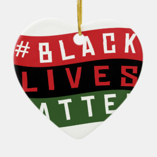 Black Lives Matter Ceramic Ornament