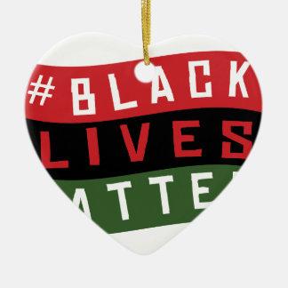 Black Lives Matter Ceramic Ornament