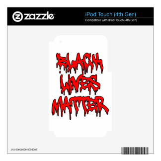 Black Lives Matter Dripping Graffiti iPod Touch 4G Decal
