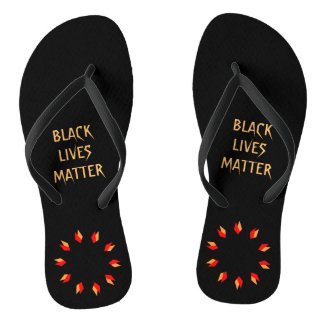 Black Lives Matter Flip Flops