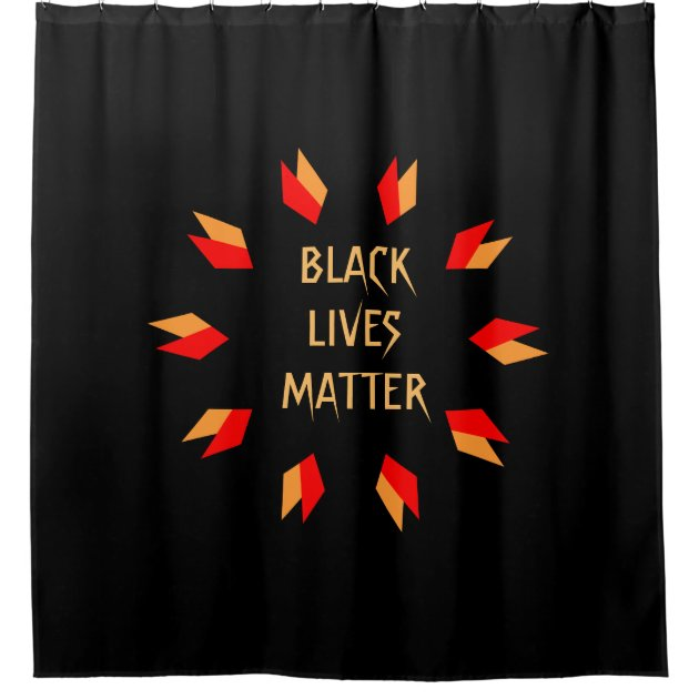 Black Lives Matter Gold And Red Shower Curtain | Zazzle.com
