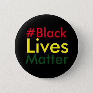 Black Lives Matter Hashtag Rasta Button