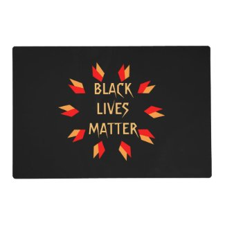 Black Lives Matter Laminated Placemat