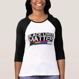 Black Lives Matter LGBT Baseball Long-Sleeve T-Shirt