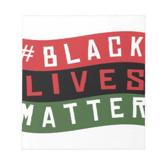 Black Lives Matter Notepad
