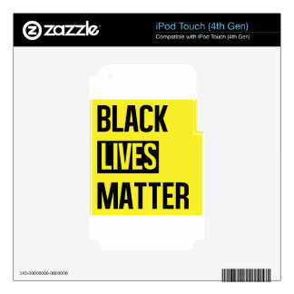 Black Lives Matter Skins For iPod Touch 4G